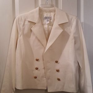 Andre Oliver Short Cropped Lined Jacket Sz 4
